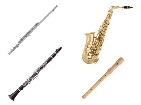Dřevěné hudební dechové nástroje